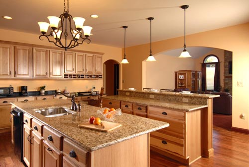 Granite Kitchen Countertop Brown