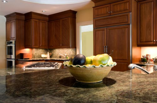 Granite Kitchen Countertop Dark